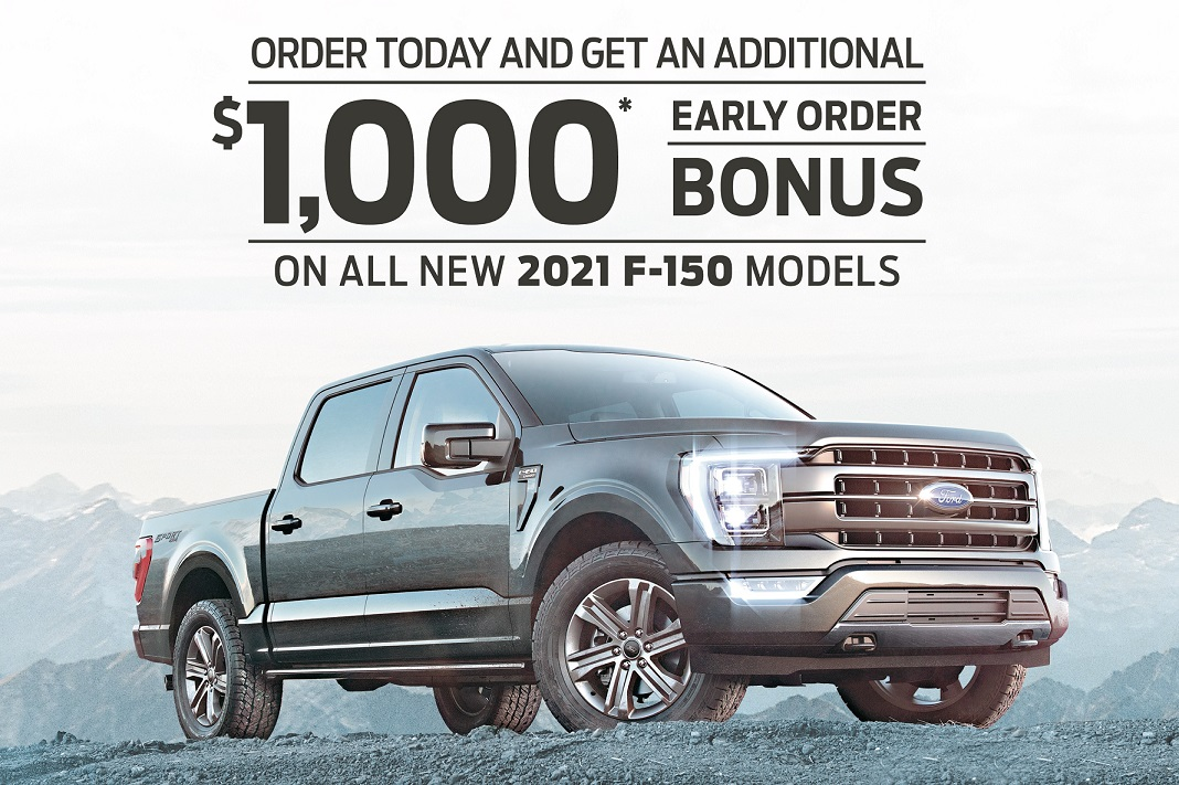 2021 Hybrid F-150 $1,000 rebate from Ford of Canada. Toronto and York Region Ford dealer